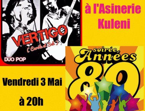 """Soirée """" Les Années 80 """" par VERTIGO duo pop"""